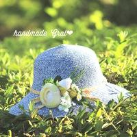 新作…お花と天然石の帽子✨