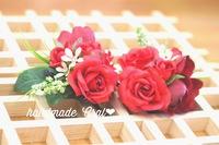 新作〜真っ赤な薔薇のコサージュ♡