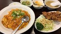 豪華エビチリ丼セット800円♡