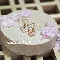 ピンクシェルの桜ピアス♡