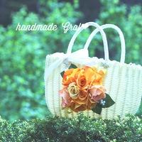 オレンジ薔薇のかごバッグ♥️