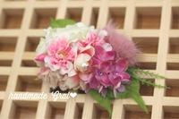 オーダー桜と天然石の髪飾り♡