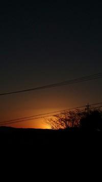 2016年大晦日の日の出