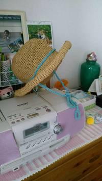 ばーちゃんの手編みの帽子