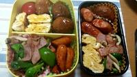今日のお弁当 二人分 2015/04/11 07:19:29