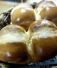 今朝もパンを焼きました♪