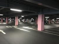 立体駐車場、目立つ色の車は目印になります‼️