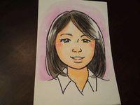タカギユミコさんの似顔絵パフォーマンス