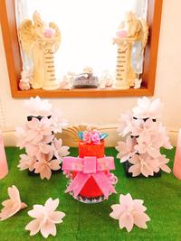 桜キャンドル&ホイップケーキキャンドル