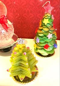 今年のクリスマスツリーキャンドル