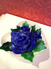 ロウで作るバラとアロマキャンドル