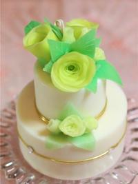 サマーグリーンケーキキャンドル