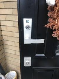 ドアのセキュリティUP工事もおまかせください! KABAdrive施工しました!