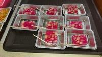 赤紫蘇シロップでゼリー作りました(*^_^*)