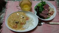 昨日の晩ご飯はシチューオンライス(#^^#)【ハウス】