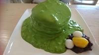 抹茶エスプーマでパンケーキ(#^^#)【カフェ・ルーク西尾市】