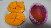 朝フルーツは、どこやら産のマンゴ~♪(#^^#)