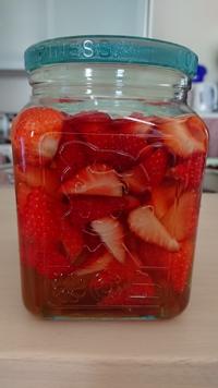 初めて作ったイチゴのサワードリンク~♪(#^.^#)