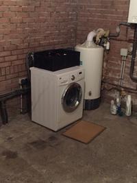 洗濯機の置き場