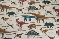 人気の恐竜柄!綿ツイル地。 入園、入学グッズ作りにおすすめです。 2016/01/30 22:50:45