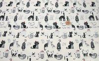 綿オックス地 新柄入荷しました。人気のネコ柄(4色)です。 2016/02/05 19:43:26