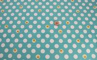 人気の綿麻キャンバス地 新柄入荷!水玉+ドッグ柄(4色)