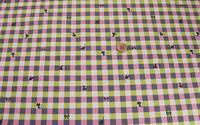 人気の綿麻キャンバス地 新柄入荷!チェック+ネコ柄(2色) 2016/02/12 20:10:02