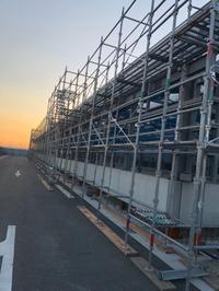 工場新築工事足場ー組立て‼︎