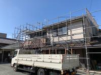 赤根班-住宅塗装工事足場-組立て‼︎