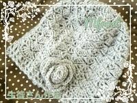クロッシェレッスン 松編みで作るコサージュ付帽子