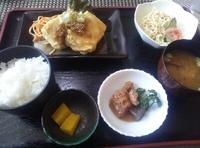食べ処ふるまち(豊田市平芝町)でとんかつランチ