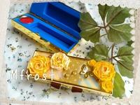 黄色いバラで金運アップ♪印鑑ケース 2015/10/26 13:17:03