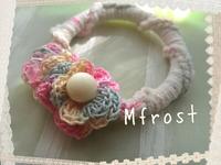 編み編みリングブレスレット