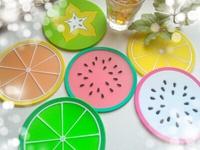 夏の食卓を華やかに♪シリコンフルーツコースター