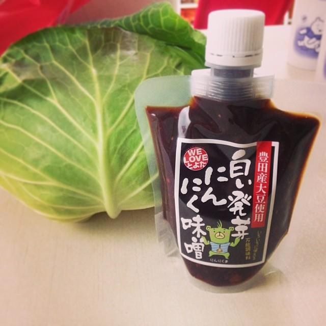 【夢農人レシピ】中甲キャベツ×水耕房いなぶ白い発芽にんにく味噌