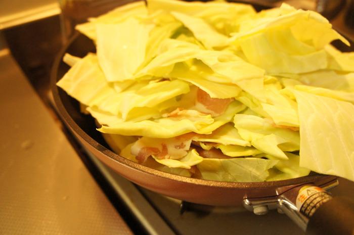 キャベツのうまみを100%引き出すw「糸井重里のキャベツ鍋」を中甲キャベツで!