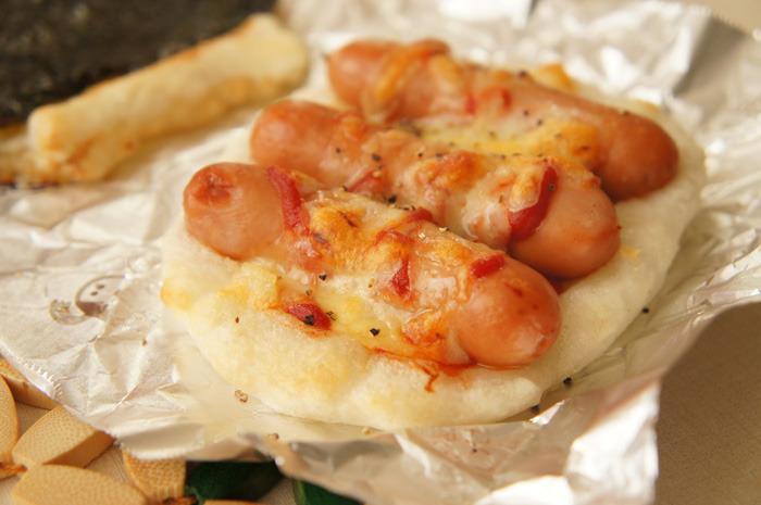 5分で家庭でもできる!もものみせののし餅を使った「餅ピザ」レシピ。