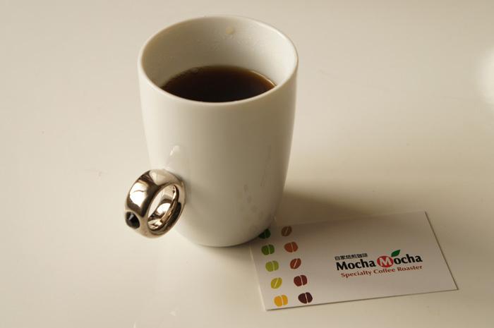 自然焙煎コーヒーMocha Mocha(モカモカ)。Floydのお気に入りコーヒーカップで♪