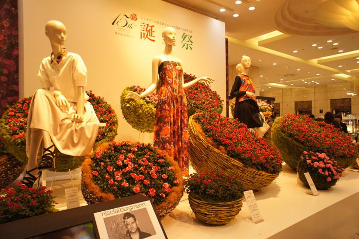 【ニコライ・バーグマン】フラワーアートでジェイアール名古屋タカシマヤ誕生祭が彩られている!