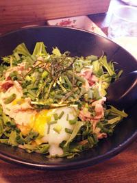 岡崎市りぶら近くkibun.de..sachio(キブン デ サチオ)の豚TONとろろまぜ冷やしラーメン(太麺)を食す。 2014/10/07 22:29:07