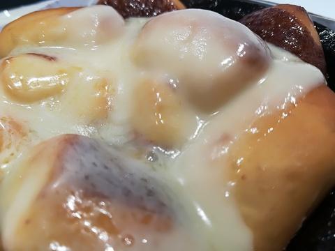 マックのシナモンメルツを食べようq(^-^q)