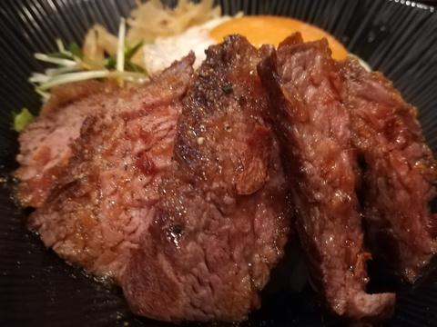 うどん馳走屋つるるのステーキ丼(*^-^)