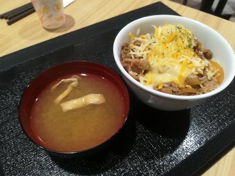 松屋の旨辛チーズポテト牛めし(^-^)/