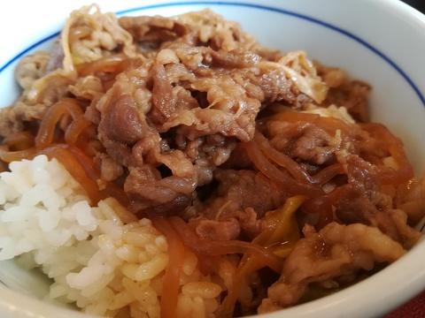 なか卯の牛とじ丼を食べよう(^-^)/