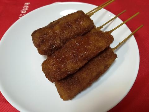 TOYOTA MEATの串カツを食べよう(^-^)/
