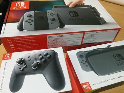 Nintendo Switchがやって来た(*´∀`)♪