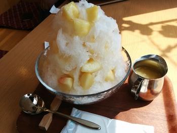 あずき庵の桃のかき氷を食べるのが目的のツーリング⁉