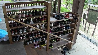 整然と並べられた靴