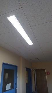 校内廊下照明器具、LED化