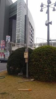 駅前イルミネーション電源撤去